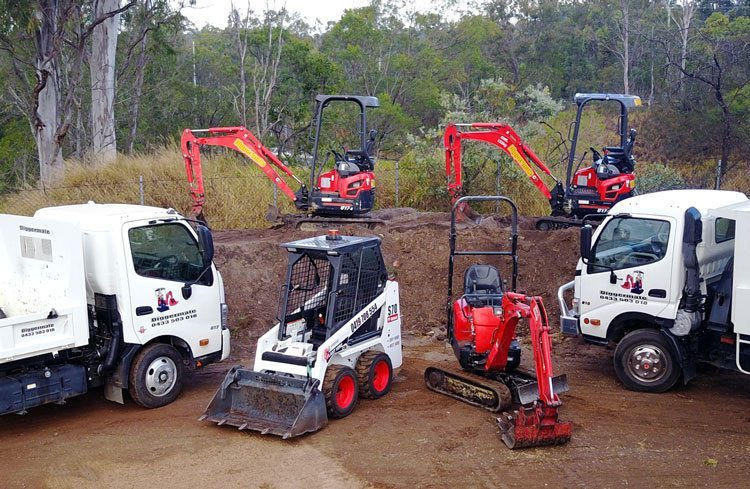 Mini Excavator, Tipper trucks, Bobcat and Micro Excavator
