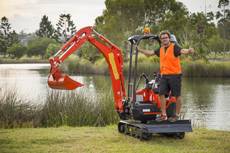 Diggermate Founder Mick Watkins on a Mini Excavator